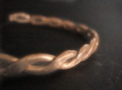 The hand hammered wire twist bracelet.