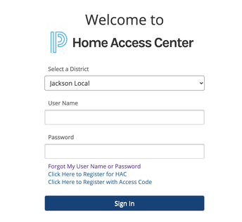 HOME ACCESS CENTER ACCESS FOR PARENTS