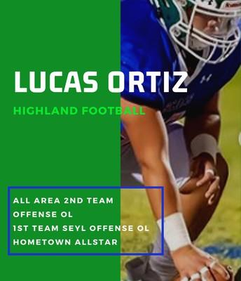 Senior Lucas Ortiz