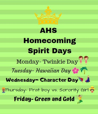Student Council Announces Spirit Days for AHS: