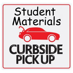 Distance Learners Only -          Material Pick Up on Monday 10/19