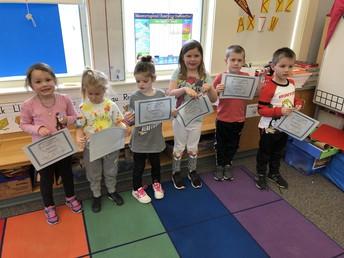 Kindergarten - Perfect Attendance - December 2018