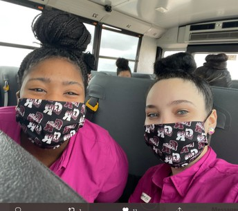 Off to Competition and ALL SMILES....Behind Those Masks!