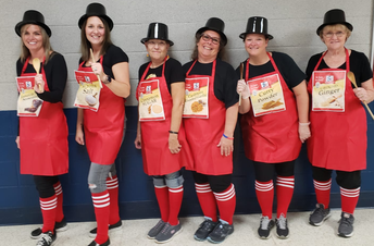 Middle School Staff on Halloween