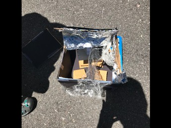 6th graders working on survival skills - Smores with Solar power!