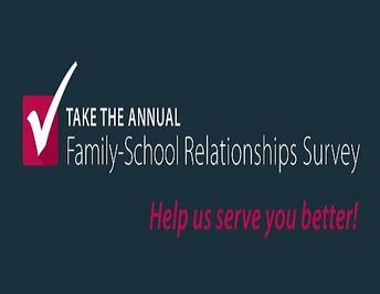 Want to hear from you! 2018-19 Family-School Relationships Survey /¡Quiero escuchar de usted! 2018-2019 Encuesta de Relaciones Familia-Escuela