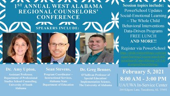West Alabama Regional School Counselors' Conference--Rescheduled for February 5, 2021