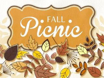 Fall Family Picnic- Friday, Oct. 5th.