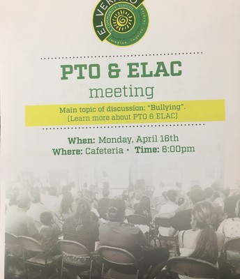 PTO and ELAC host a forum!