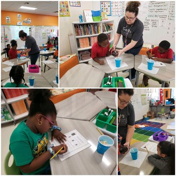 Mrs. Lestina 2nd grade class science experiment