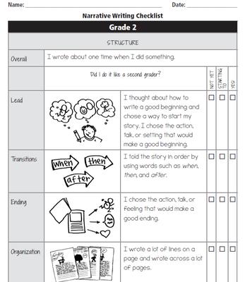 Writing Unit 7: Writing Checklist