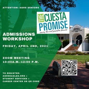 Cuesta Admissions Workshop