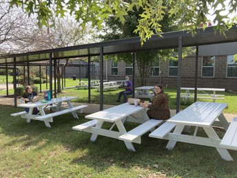 Added Outdoor Seating from PTO