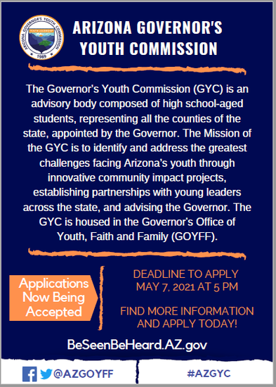 Governor's Youth Commission Flyer