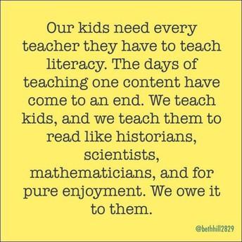 We are all Literacy Teachers!!!