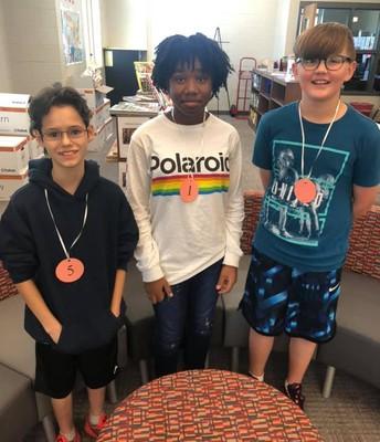 6th Grade Spelling Bee Winners