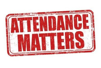 Graphic with words Attendance matters