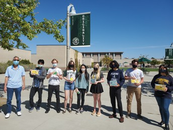 MVHS Computer Science students were presented with awards for their recent success in a local hackathon!