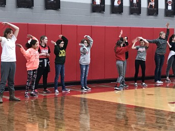 Students had fun letting loose with the YMCA and other fun dances