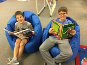 Students enjoy reading!