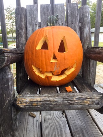 This pumpkin lost his tooth and is expecting a visit from the tooth fairy!