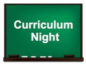 Save the Date: Curriculum Night  will be held on September 18, 2018 @ 6:30 p.m.