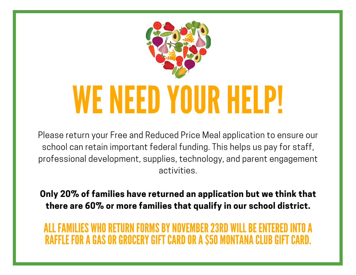 Free and Reduced Meal Information