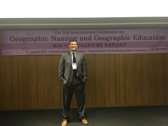 Hastings Ninth Grade Center teacher Dan Treat presented at The 9th International Conference on Geographic Naming and Geographic Education in Seoul, South Korea.