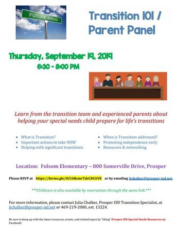 Transition 101/Parent Panel