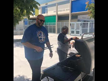 City and School Staff BBQ - Thanks Pedro, Brad, Christen and City Staff!