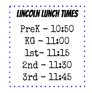 Lincoln School Hours