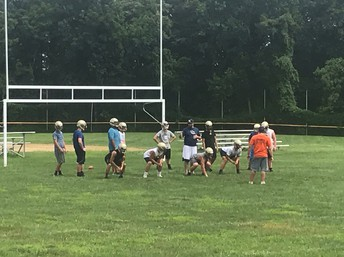 Football practice is underway at Lower Moreland High School