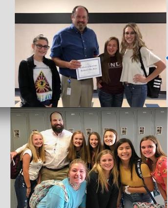 Blue Belles' Teachers of the Week