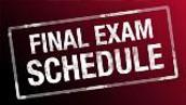 Final Exams Schedule