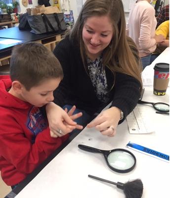 Reagan and mom conquer fingerprinting!