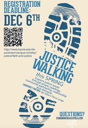 Justice Walking Spring Semester