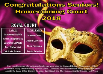 Senior Homecoming Court
