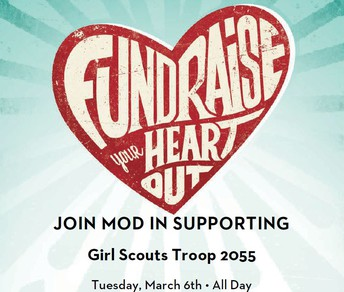 Join MOD Pizza in Supporting Girl Scout Troop 2055 Tuesday, March 6!
