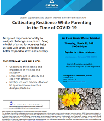 Cultivating Resilience While Parenting in the Time of COVID-19