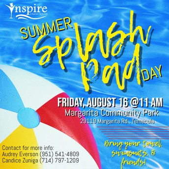 Inspire's Summer Splash Pad Day! TEMECULA