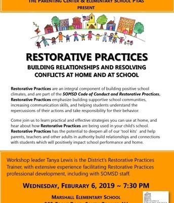 2/6/19 Restorative Practices Event