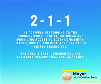 2-1-1 COVID Community Services