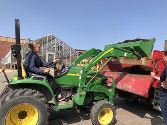 Moving Soil for Garden Beds