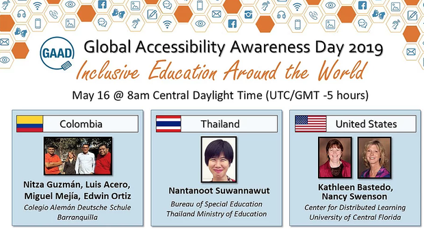 Announcement for ISTE Inclusive Learning Network webinar on Global Accessibility Awareness Day.
