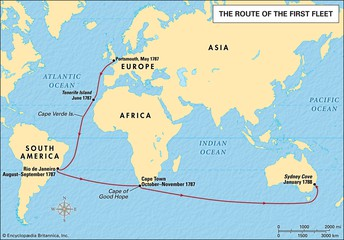 Route the first fleet took