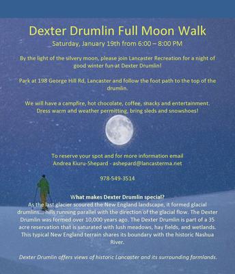 Dexter Drumlin Full Moon Walk