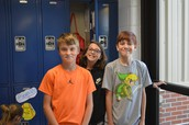 6th Graders with Their New Lockers