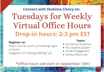 Connecting for Academic Support: First Gen and Low Income Support Office Hours