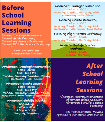 Weekday Before/After School Intervention & Tutoring