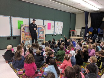 Morgan Students Learn About Fire Safety